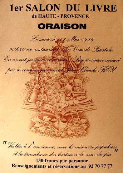 Salon du livre oraison 1996 for Salon du livre politique